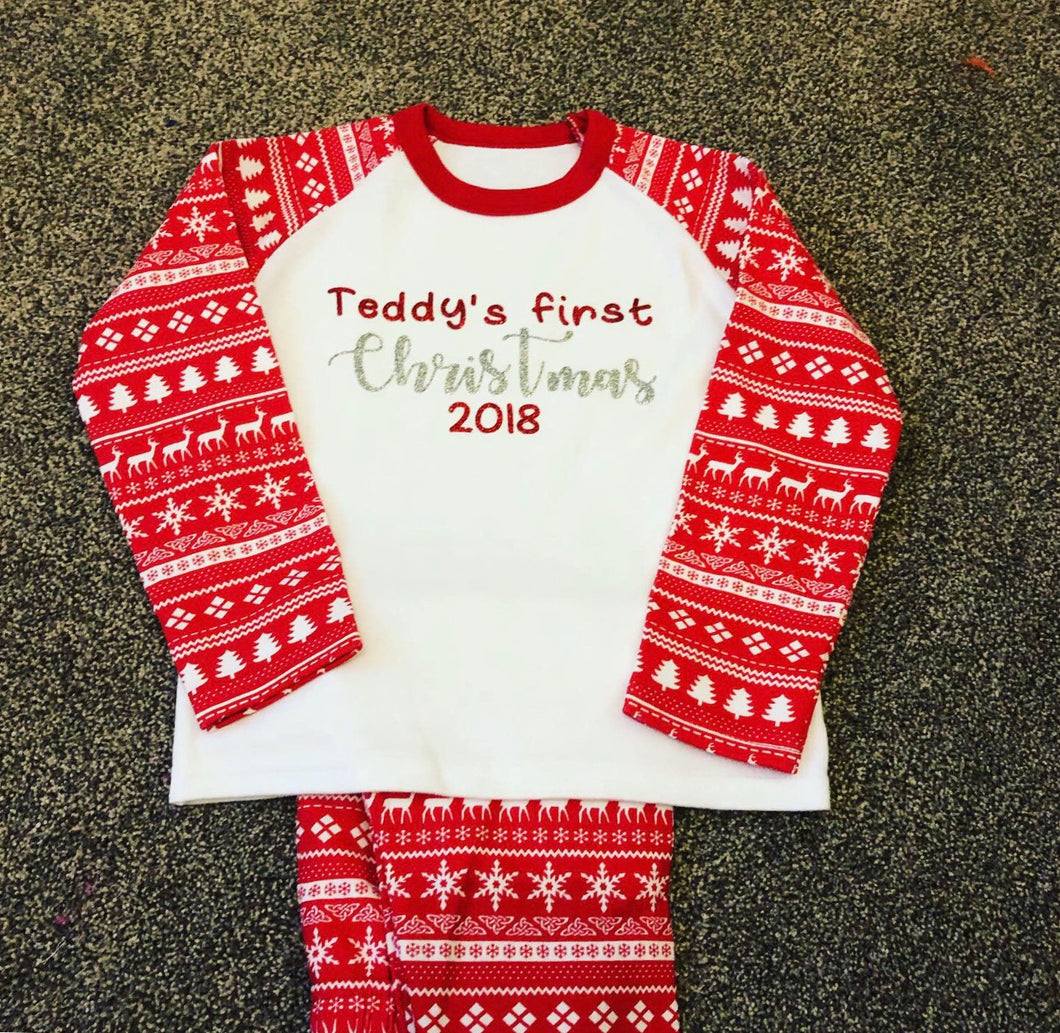 Gingerbread style Christmas Pj's
