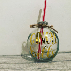 Glass Drinking Bauble