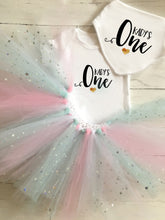 Load image into Gallery viewer, SET OF 2 - First Birthday Tutu & Baby Grow Set / Cake Smash / Tutu / One
