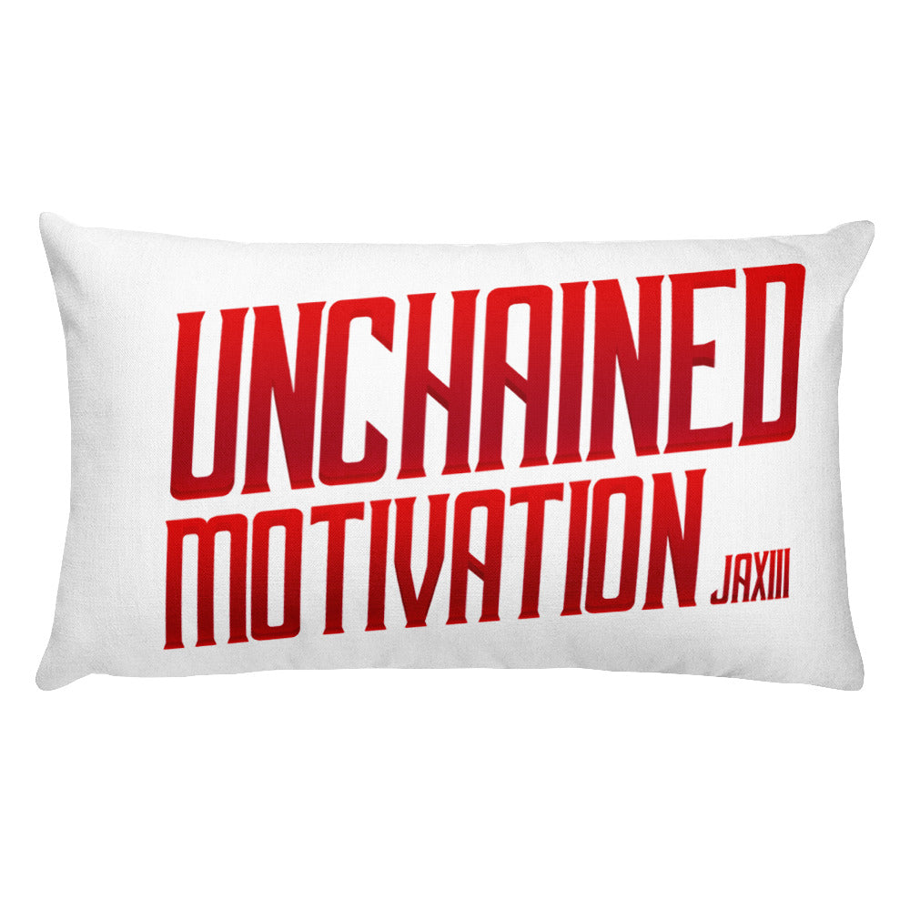 "J A XIII  ""Unchained Motivation""Print Premium Pillow Case w/ stuffing"