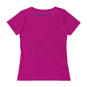 Anvil 391 Ladies Sheer Scoopneck T-Shirt with Tear Away Label