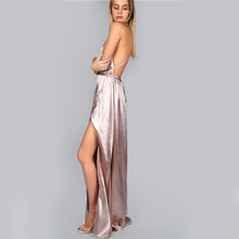 Load image into Gallery viewer, CAN'T COMPETE SATIN MAXI DRESS