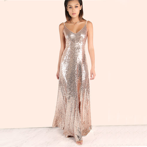 MET GALA SEQUIN MAXI DRESS