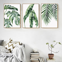 Load image into Gallery viewer, TROPICAL LEAFS ON CANVAS