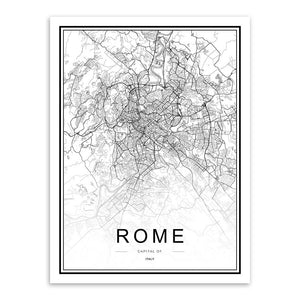 CITY MAPS ON CANVAS (BIG SIZES)