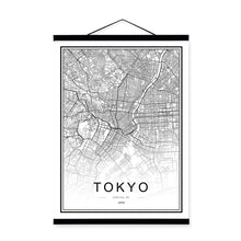 Load image into Gallery viewer, CITY MAPS ON CANVAS (BIG SIZES)
