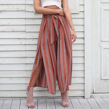 Load image into Gallery viewer, HAVANA LOOSE STRIPED PANTS WITH SPLIT
