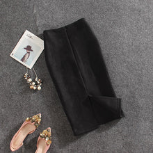 Load image into Gallery viewer, NO EXCUSES SUEDE MIDI SKIRT