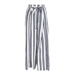 HAVANA LOOSE STRIPED PANTS WITH SPLIT