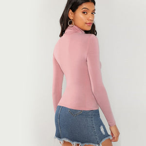 COTTON CANDY TURTLENECK TOP