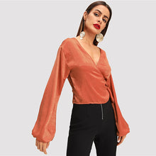 Load image into Gallery viewer, ELEGANT WRAP BLOUSE