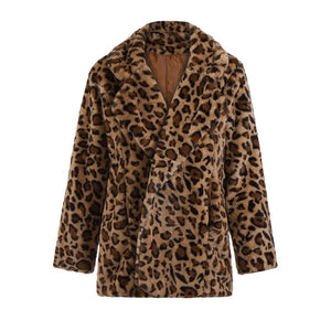COZY BUSINESS FAUX FUR COAT