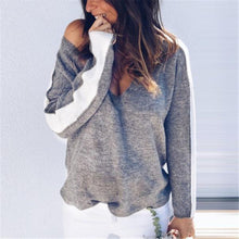 Load image into Gallery viewer, DAY OFF LOOSE OFF SHOULDER SWEATER