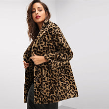 Load image into Gallery viewer, COZY BUSINESS FAUX FUR LEO COAT