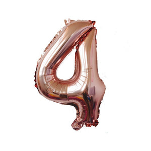 METALLIC NUMBER BALLOON