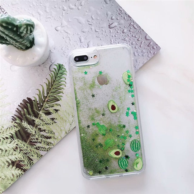 LIQUID QUICKSAND EMOJI iPHONE CASE