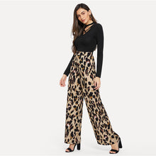 Load image into Gallery viewer, SAND LEOPARD FLARED PANTS
