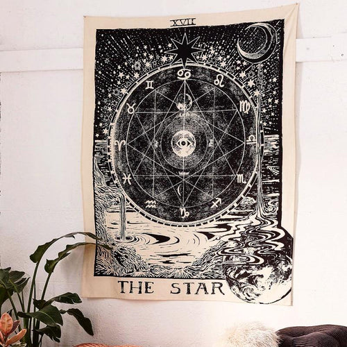 THE STAR TAROT CARD TAPESTRY
