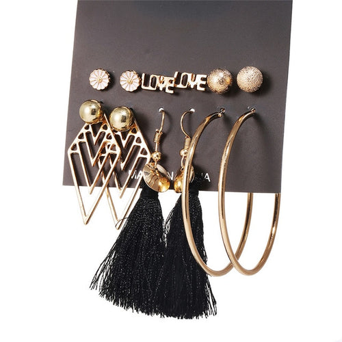 TASSEL EARRING SET