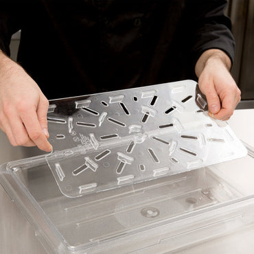 Cambro, Flat lid for Polycarbonate food storage box and Drain Shelf , CLEAR - Mabrook Hotel Supplies