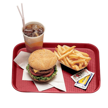 CAMBRO FAST FOOD TRAY CRANBERRY - 30X41 CM - Mabrook Hotel Supplies