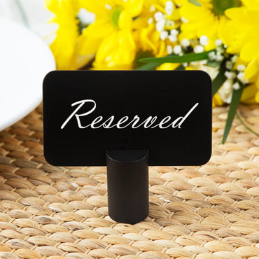 ROUND CAST ALUMINIUM CARD HOLDER, BLACK ANODIZED, 0.875 DIA - Mabrook Hotel Supplies