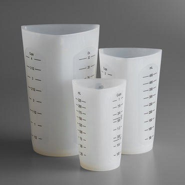 TABLECRAFT 3 PIECE FLEXIBLE MEASURING CUP SET - Mabrook Hotel Supplies
