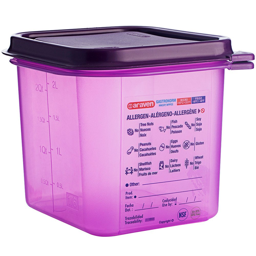 Airtight Container Allergen-Free Polypropylene GN 1/6 - Mabrook Hotel Supplies