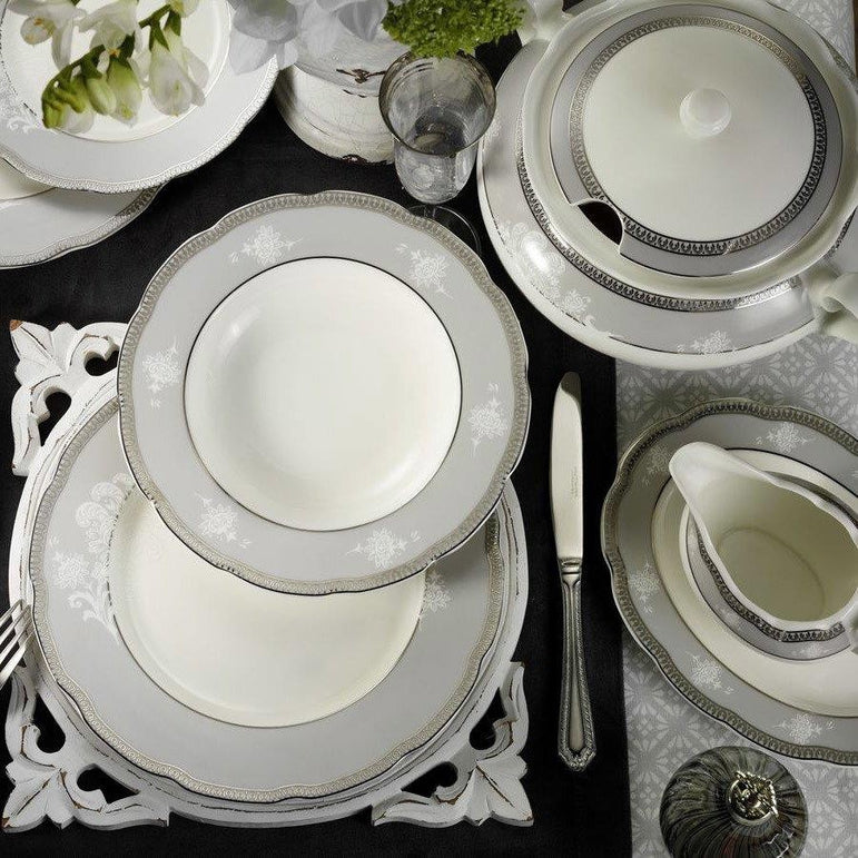 KUTAHYA BONE OLYMPOS DINNER SET 62 PCS - Mabrook Hotel Supplies