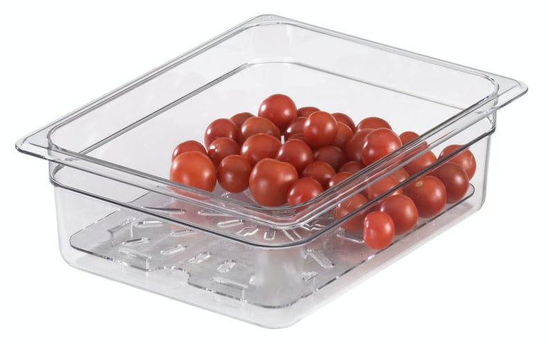 Cambro, GN 1/2 Polycarbonate Lid and Drain Shelf , CLEAR - Mabrook Hotel Supplies