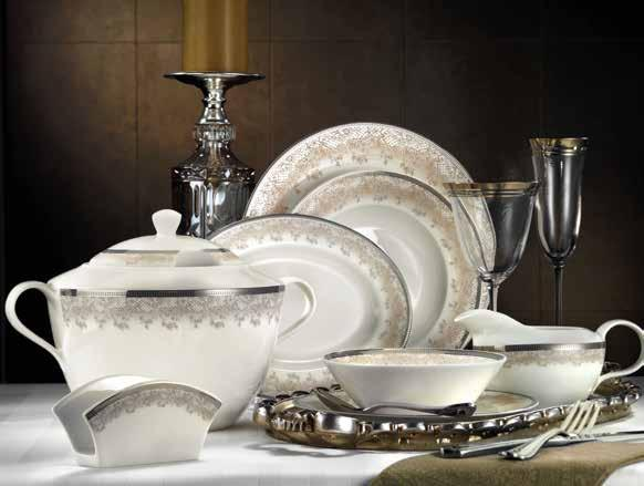 KUTAHYA PORCELAIN BONE KALIPSO 62 PIECE DINNER SET - Mabrook Hotel Supplies