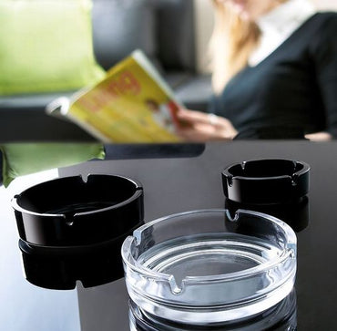 ARCOROC TRANSPARENT STACKABLE ASHTRAY