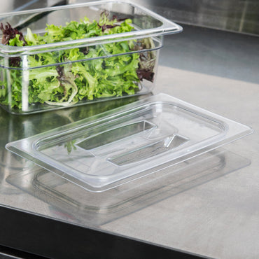 Cambro, GN 1/4 Polycarbonate Lid and Drain Shelf , CLEAR - Mabrook Hotel Supplies
