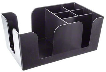 BAR CADDY. BLACK ABS PLASTIC. DIM:24.13X14.47X10.16 - Mabrook Hotel Supplies