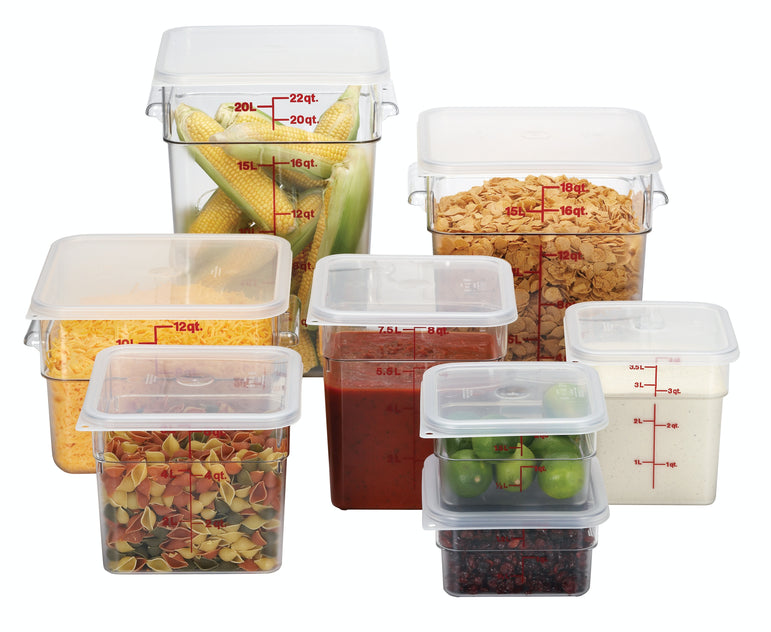 Cambro, Polycarbonate Square Food Storage Container - Mabrook Hotel Supplies