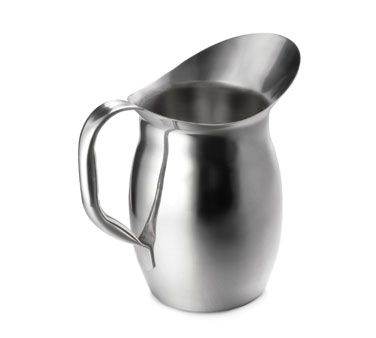 """PITCHER, BELL SHAPED, 4 1/8 QUART, STAINLESS, 10 3/8"" HT"" - Mabrook Hotel Supplies"