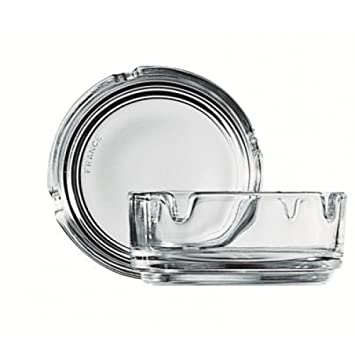 """TRANSPARENT STACKABLE ASHTRAY, CAP: 107CL/14.75OZ, DIA: 7.9C"" - Mabrook Hotel Supplies"