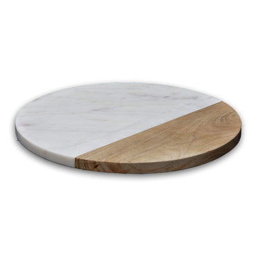CHOPPING BOARD,DIM:30X1.5,COLOR:WHITE MARBLE/ACASIA WOOD