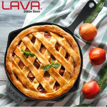 LAVA CAST IRON ROUND FRYING PAN - 28 CM - Mabrook Hotel Supplies