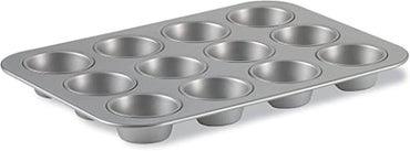 ALUMINUM  MUFFIN PAN 12 CUPS NON STICK