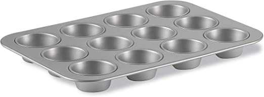 ALUMINUM  MUFFIN PAN 12 CUPS NON STICK - Mabrook Hotel Supplies