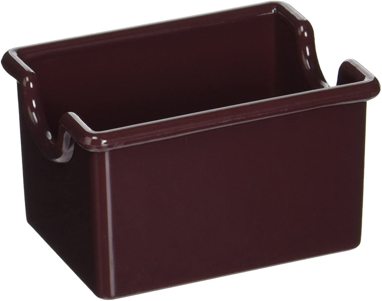 SUGAR PACKET HOLDER PS PLASTIC BROWN - Mabrook Hotel Supplies