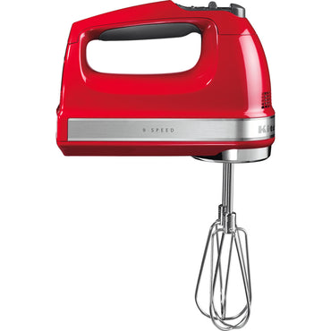 KITCHENAID HAND MIXER 9 SPEEDS - EMPIRE RED