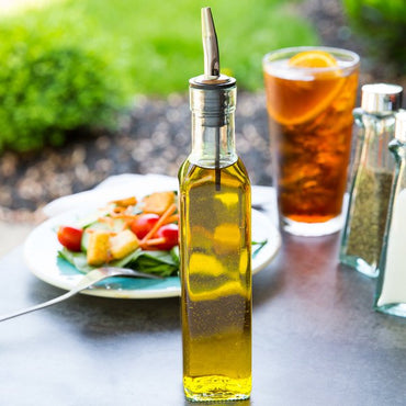 OVAL OLIVE OIL BOTTLE - Mabrook Hotel Supplies