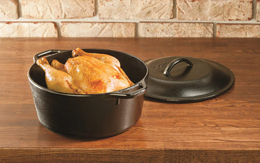 LODGE PRE-SEASONED CAST IRON DUTCH OVEN 5 QUART (4.73 LITERS)