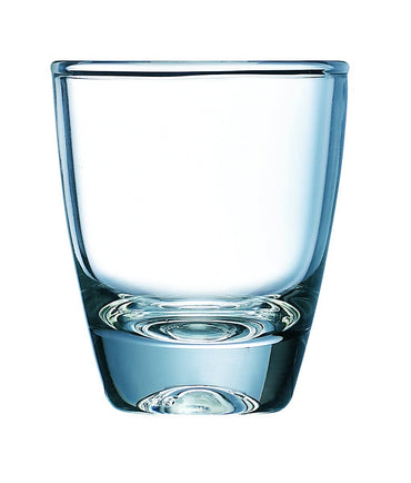 """GIN SHOT GLASS, CAP: 5CL/1.5OZ, DIA: 4.8CM, HEIGHT: 5.7CM, C"" - Mabrook Hotel Supplies"