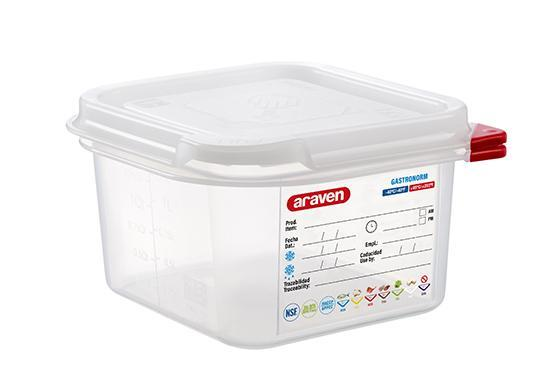 Airtight Container Polypropylene GN 1/6
