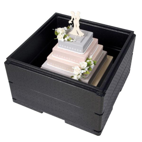 THERMO FUTURE BOX,TORTE-RAHMEN/FRAME FOR WEDDING CAKE BOX,INSIDE DIM:59.5X59.5X16.2CM,OUTSIDE DIM:52.5X52.5X14.5CM - Mabrook Hotel Supplies