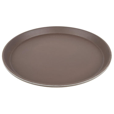 CAMBRO CAMTREAD ROUND TRAYS COLOR:TAVERN TAN ,DIM:28 CM - Mabrook Hotel Supplies