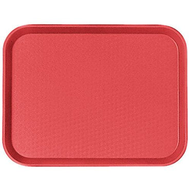 """FAST FOOD TRAY SIZE:14X18 CM, COLOR RED."""